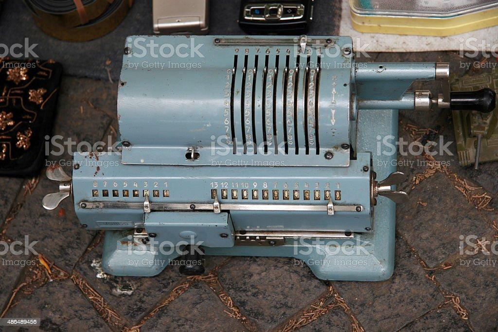 Arithmometer stock photo