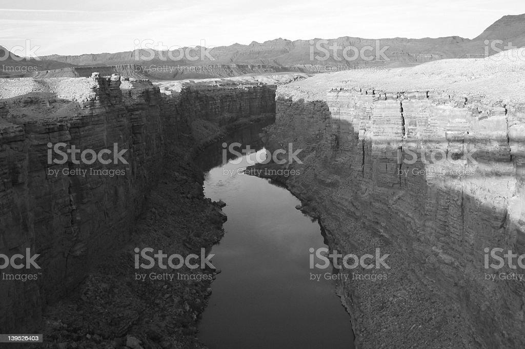 Arizona Canyon & River royalty-free stock photo