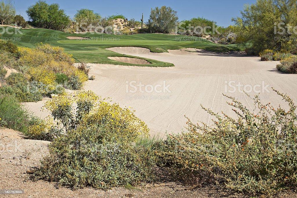 Arizona Desert Golf Course stock photo