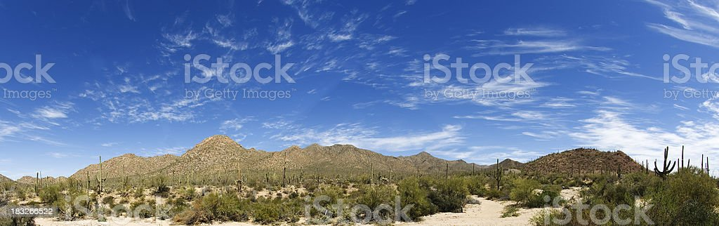 Arizona Desert / Mountain Panorama royalty-free stock photo
