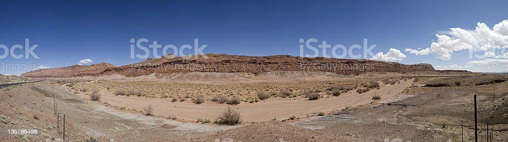 Arizona desert panorama royalty-free stock photo
