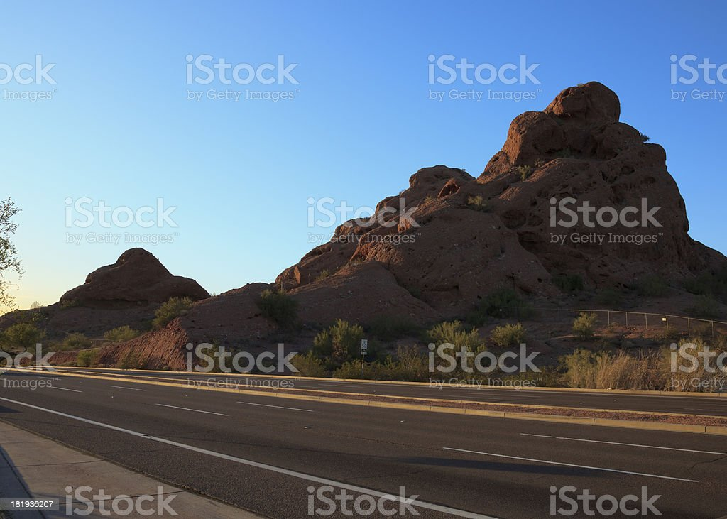 Arizona desert red rock butes royalty-free stock photo