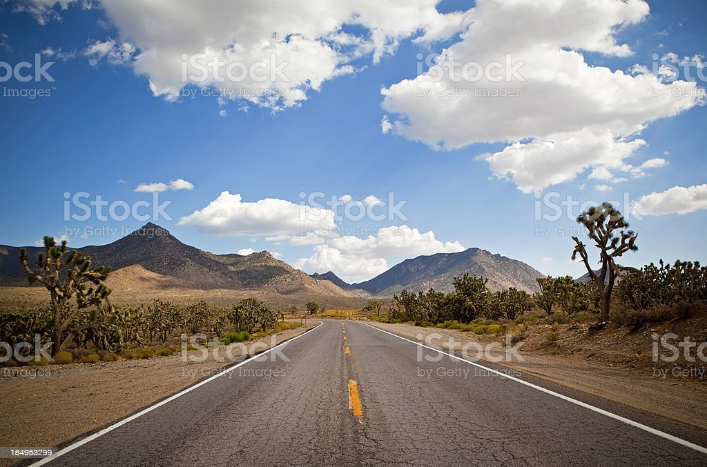 Arizona desert road royalty-free stock photo