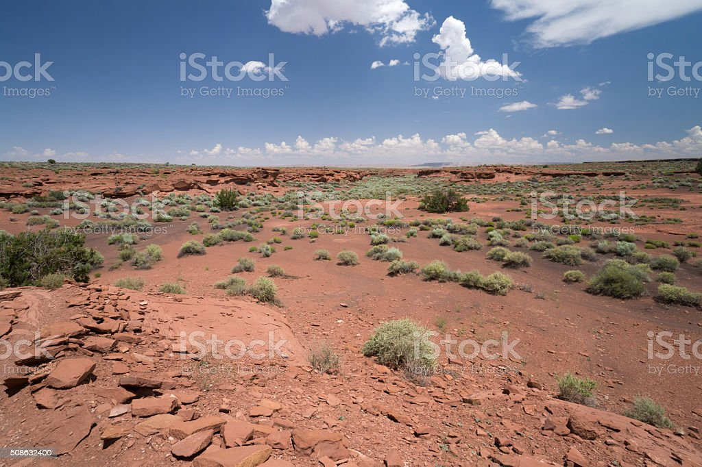 Arizona Desert stretching for miles stock photo