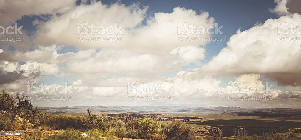Arizona desertic landscape with grand canyon royalty-free stock photo