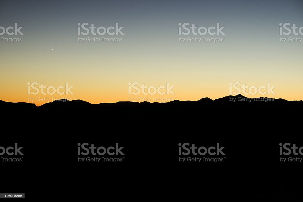 Arizona Dusk Sunset stock photo