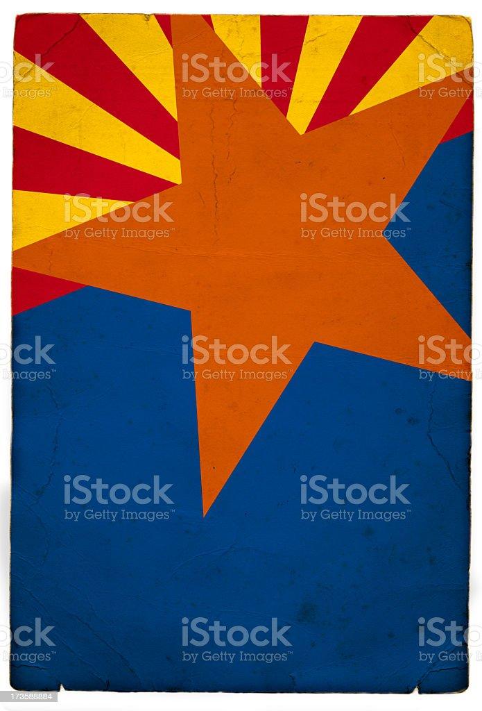 Arizona flag detail royalty-free stock photo