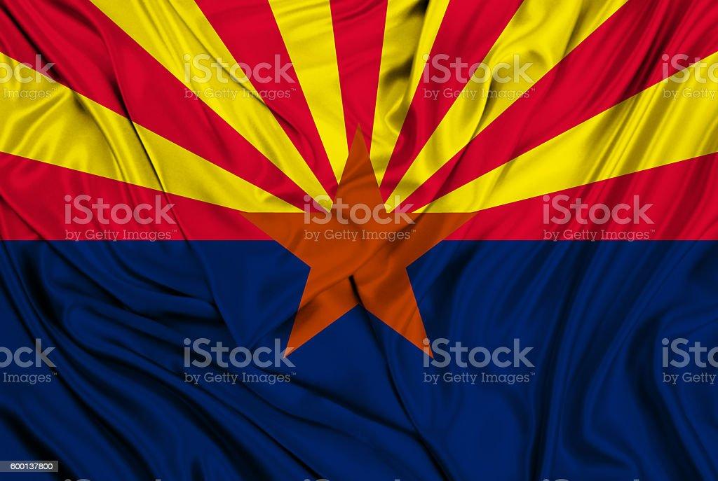 Arizona flag stock photo