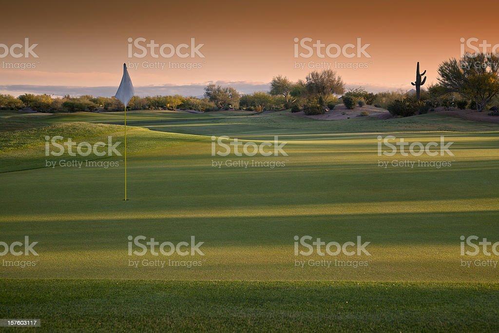Arizona Golf Course at Sunrise royalty-free stock photo