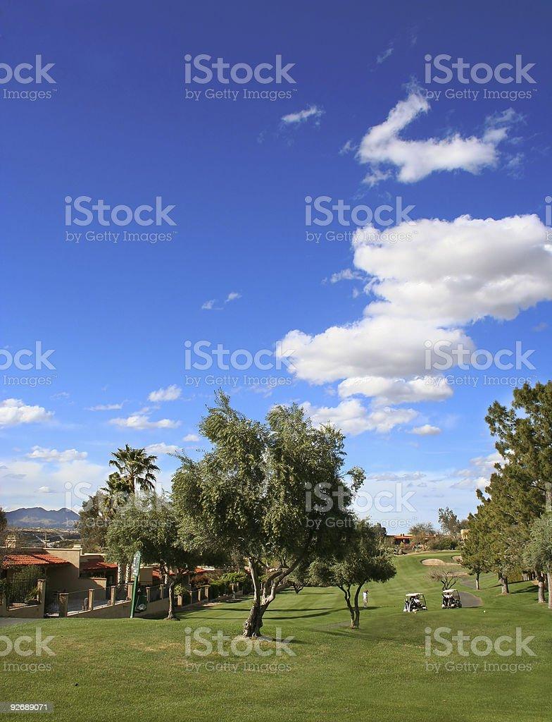 Arizona Golfing royalty-free stock photo
