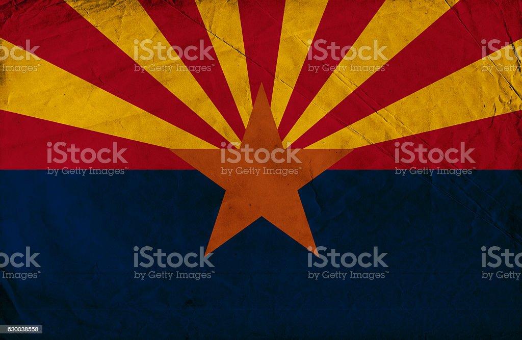 Arizona grunge flag stock photo