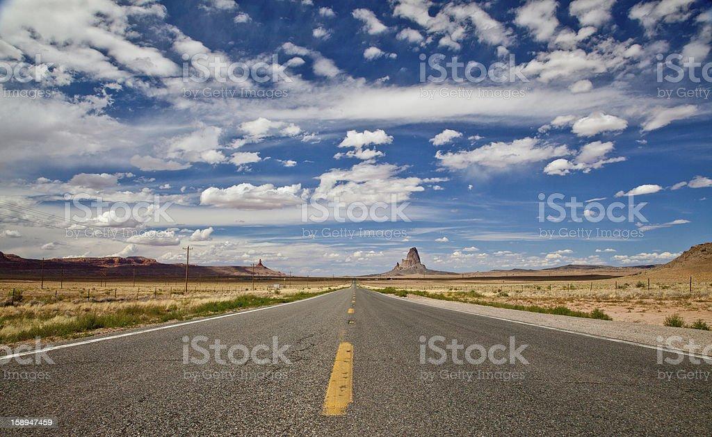 Arizona Highway Panorama stock photo