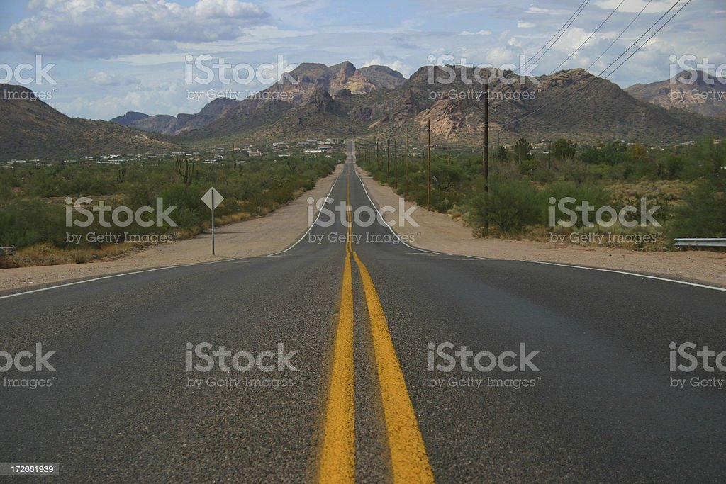 Arizona Highway royalty-free stock photo