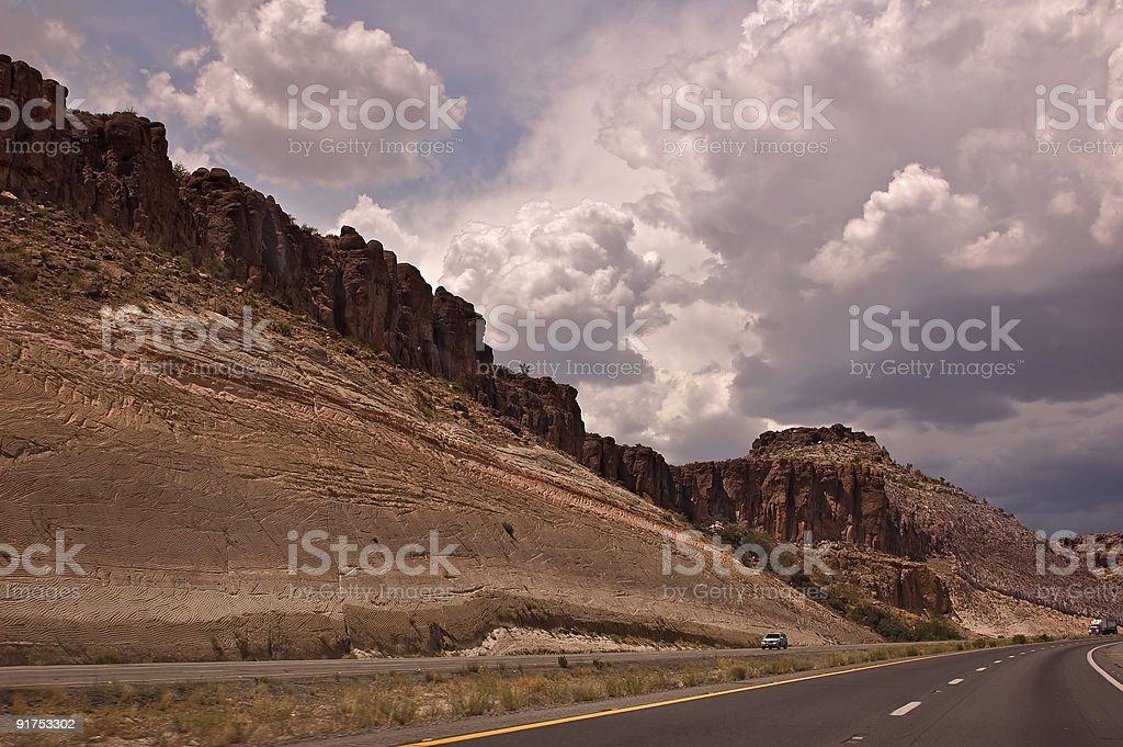 Arizona Highway stock photo
