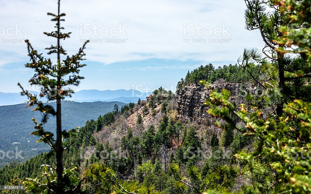 Arizona landscape, Mogollon Rim. stock photo