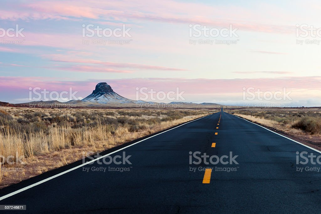 Arizona Landscape Near Winslow stock photo