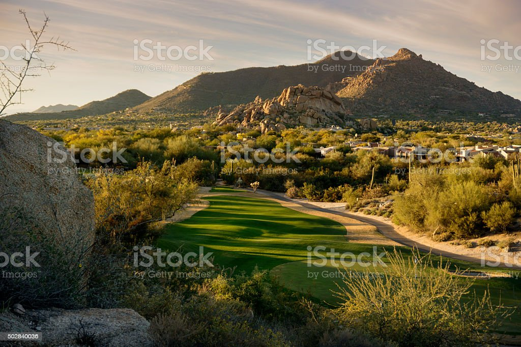 Arizona landscape, Scottsdale, Phoenix area,USA stock photo