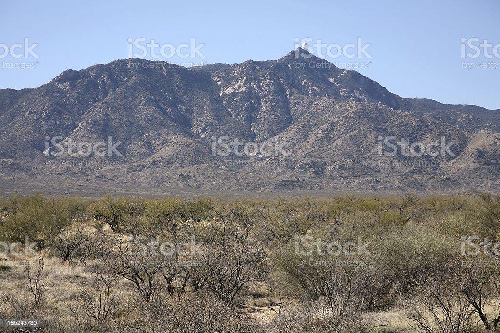 Arizona Landscape With Kitt Peak National Observatory stock photo