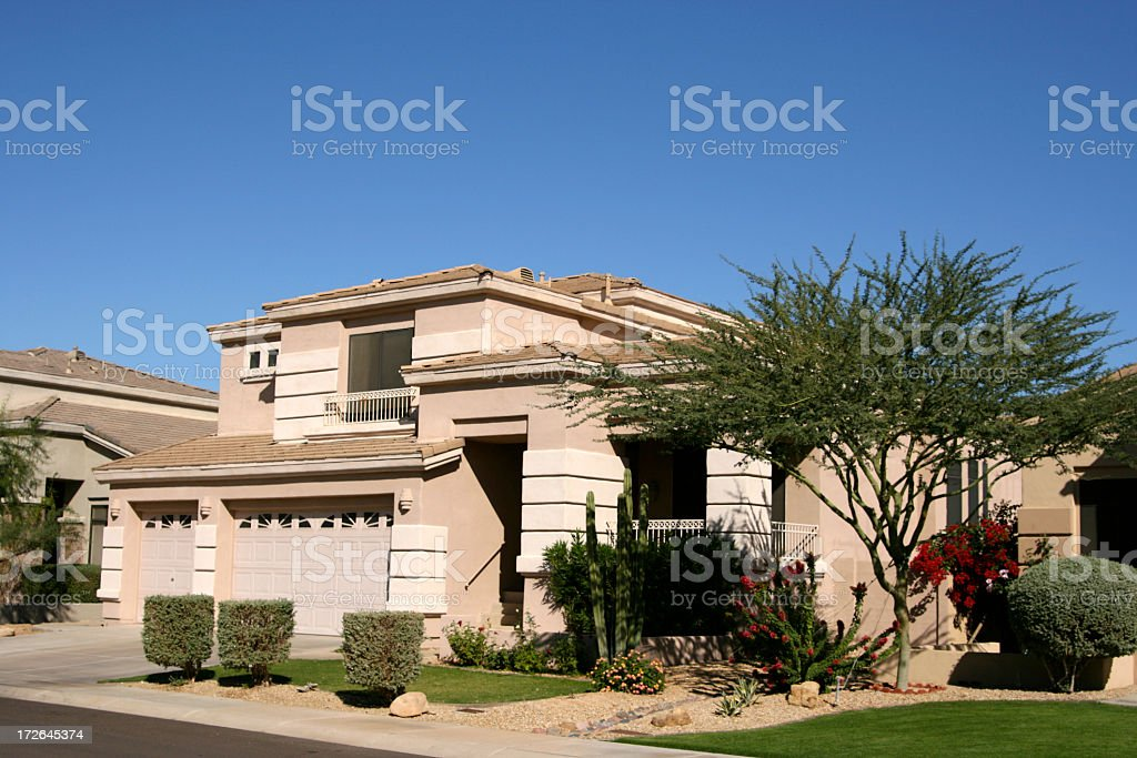 Arizona Luxury Home in Scottsdale Northwest Phoenix stock photo