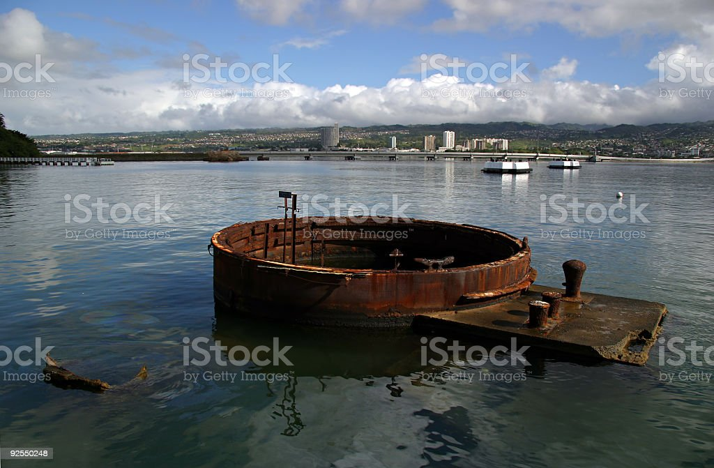 Arizona Memorial at Pearl Harbor royalty-free stock photo
