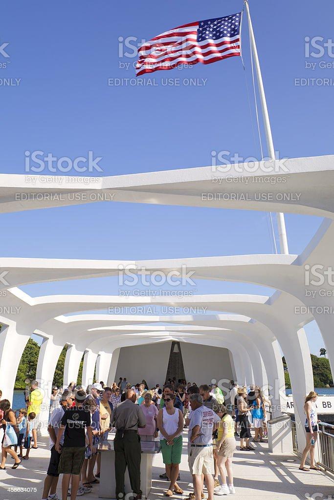 USS Arizona Memorial, Pearl Harbor, Hawaii (vert) stock photo