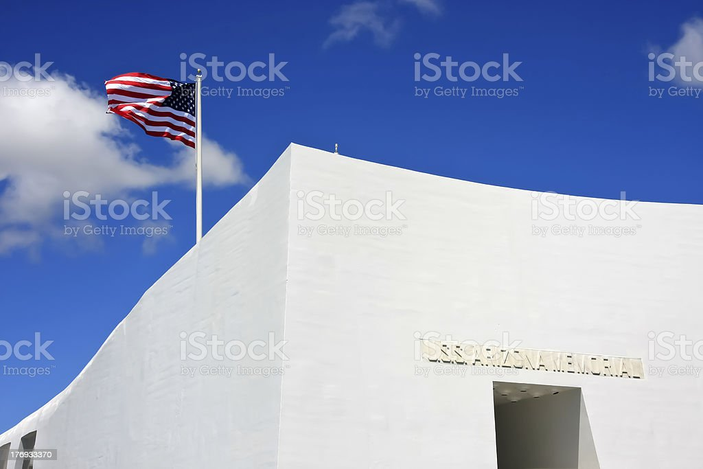 USS Arizona Memorial royalty-free stock photo