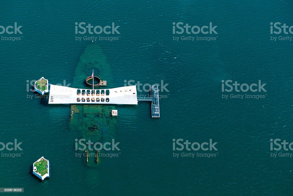 USS Arizona memorial stock photo