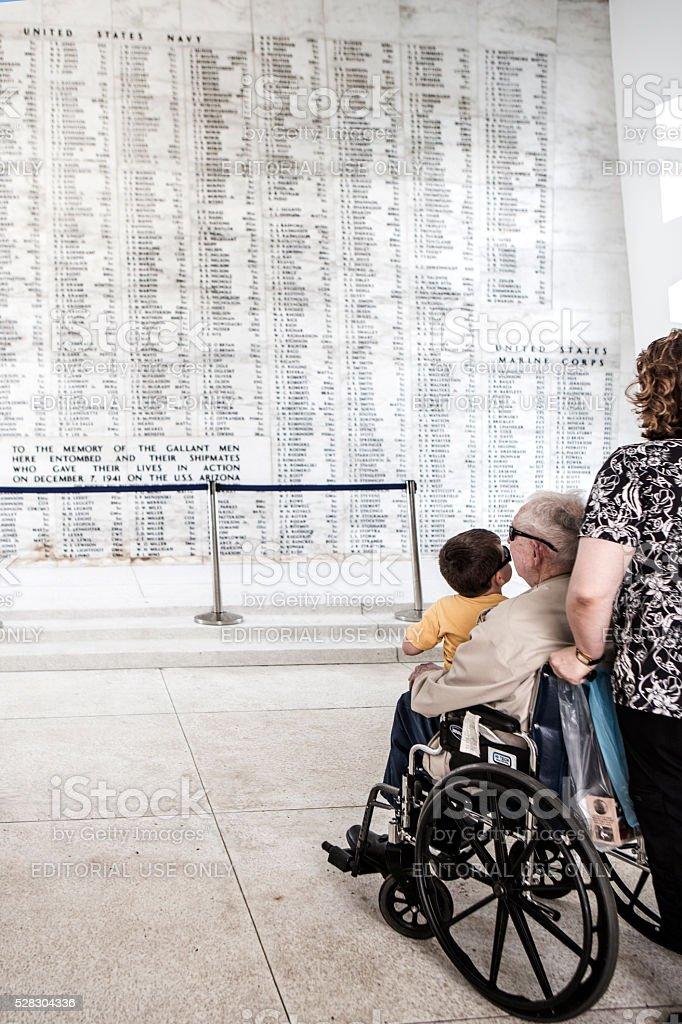 USS Arizona Memorial stock photo
