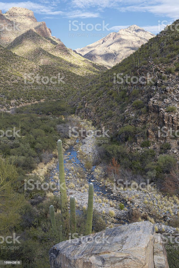 Arizona mountain landscape. Bear Creek Canyon. royalty-free stock photo