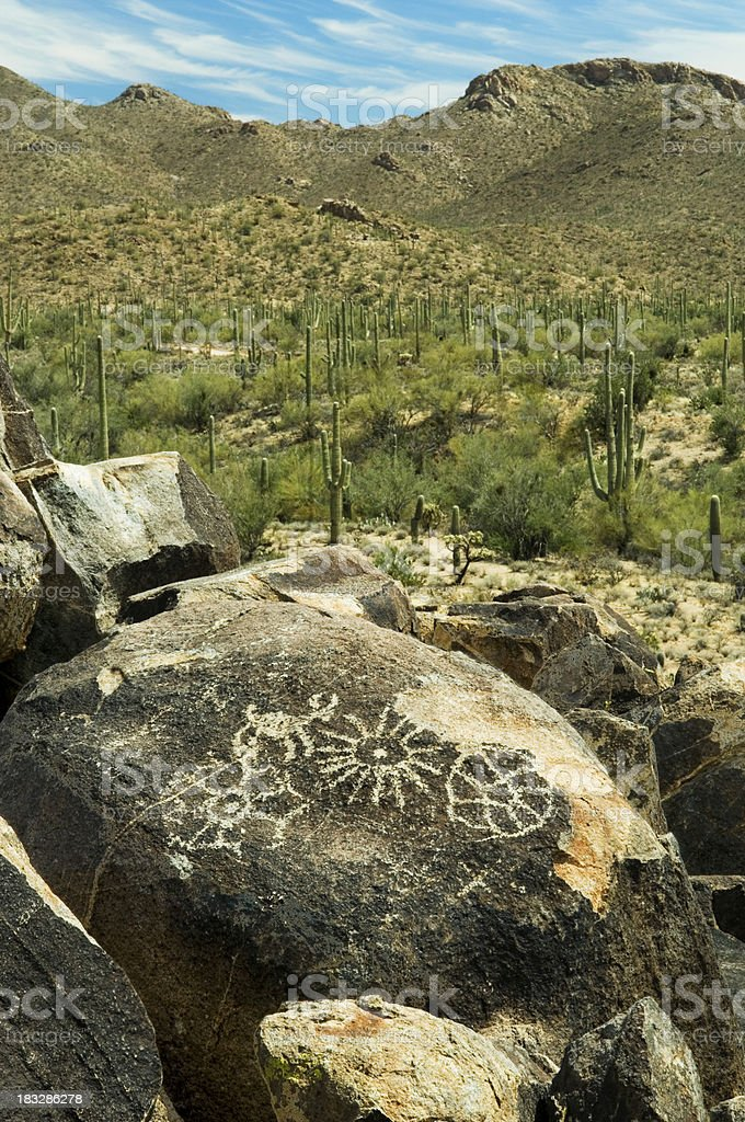 Arizona Petroglyphs stock photo