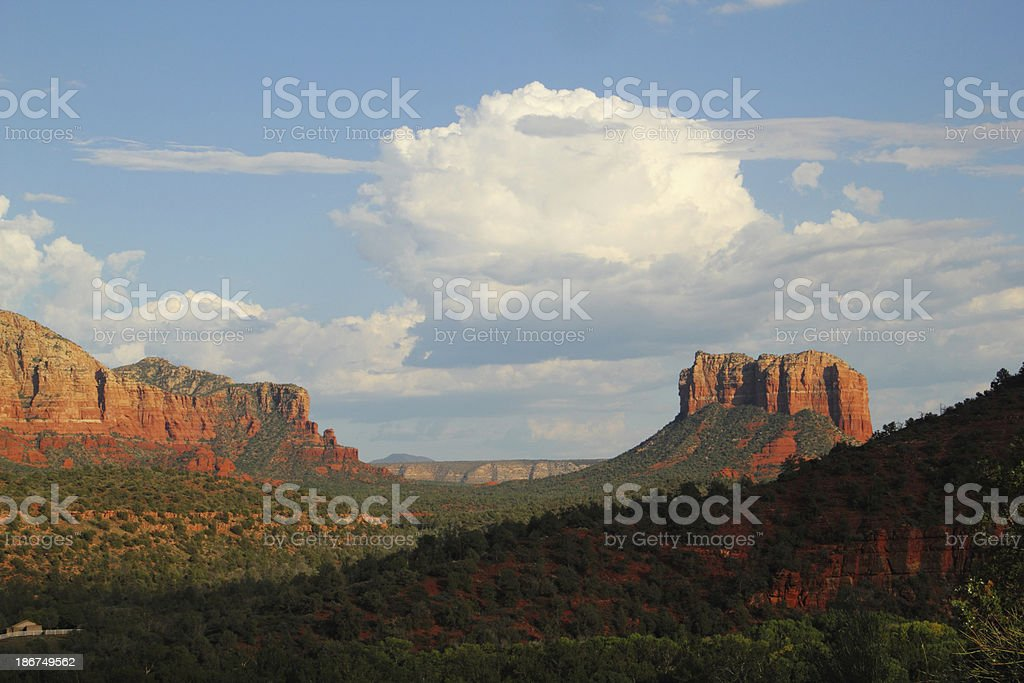 Arizona Red Rock Courthouse Butte stock photo