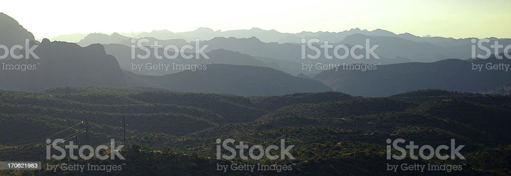 Arizona rolling hills on the Apache trail east of Phoenix royalty-free stock photo