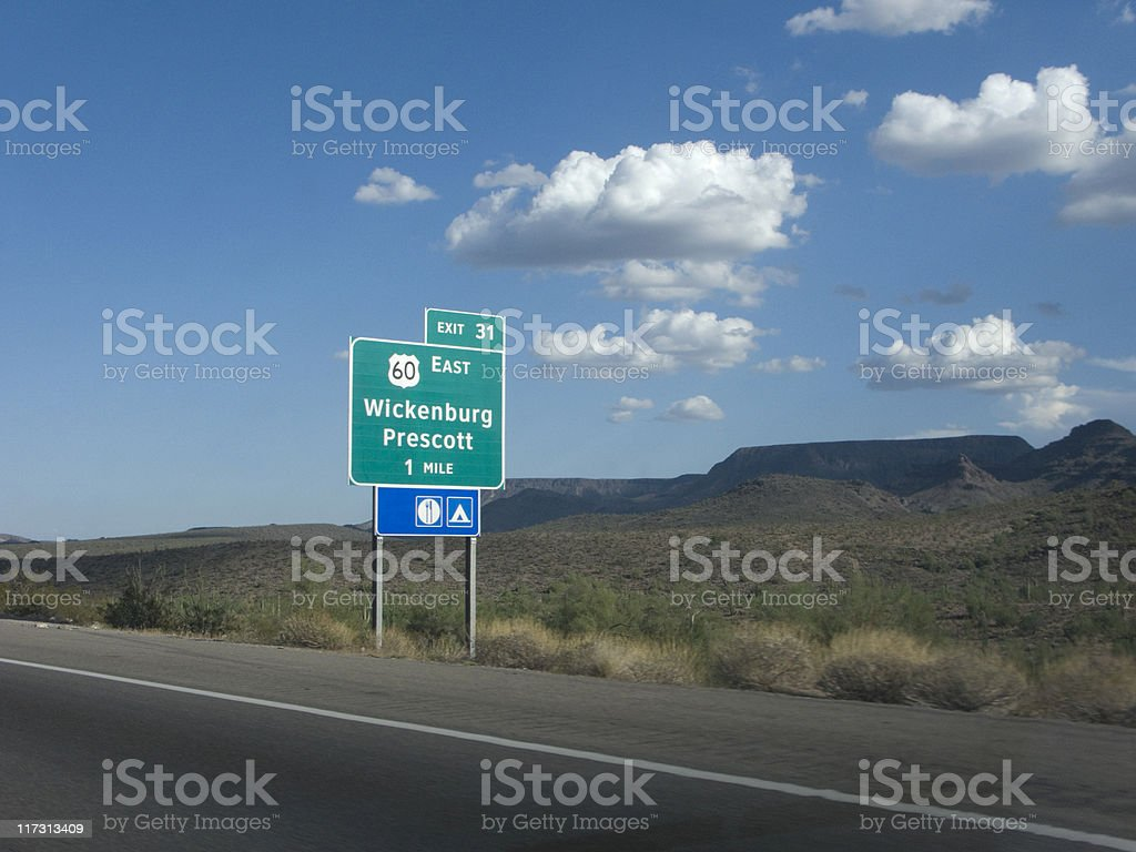 Arizona Route 60 stock photo
