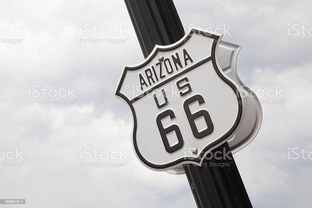 Arizona Route 66 Historic Sign royalty-free stock photo