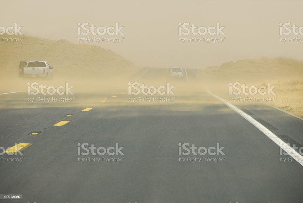 Arizona Sand Storm stock photo