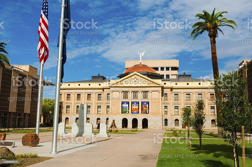Arizona State Capitol in Phoenix royalty-free stock photo
