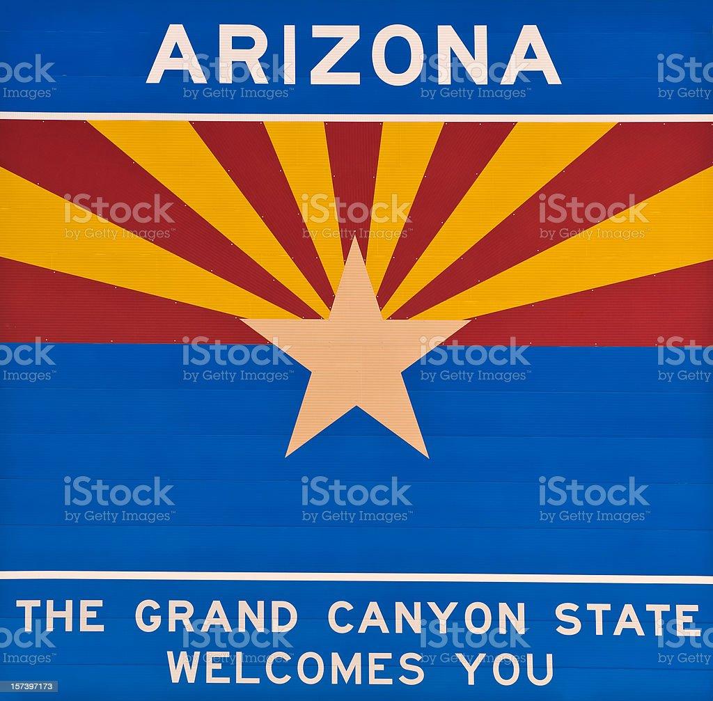 Arizona State Flag royalty-free stock photo
