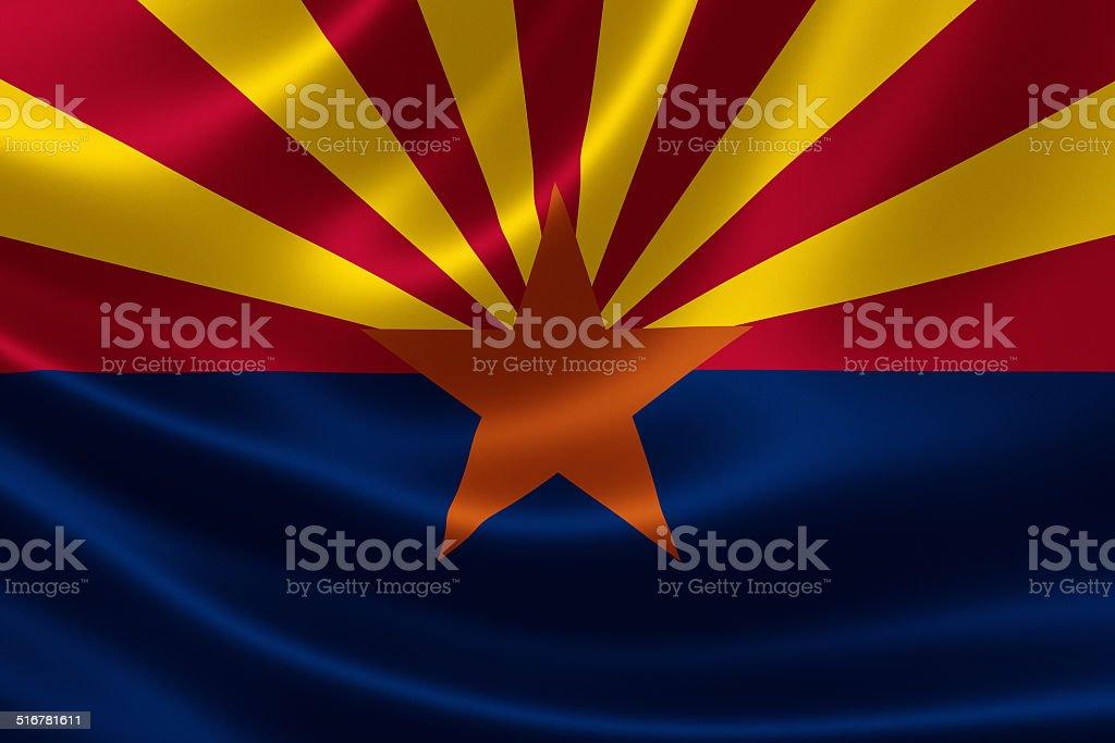 Arizona State Flag stock photo
