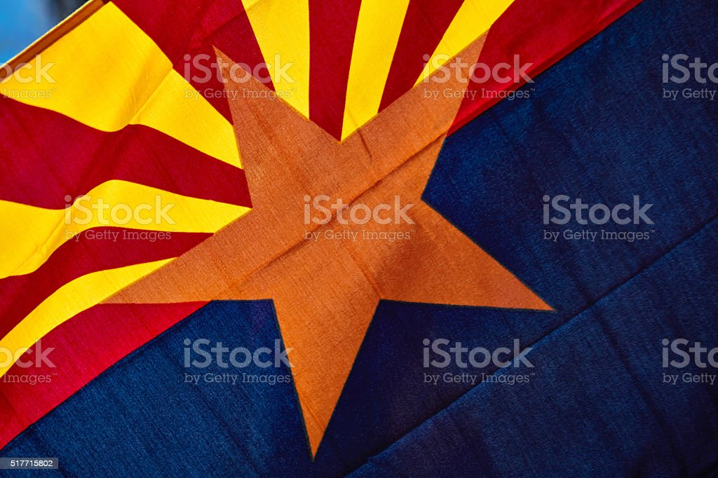 Arizona State Flag stock photo