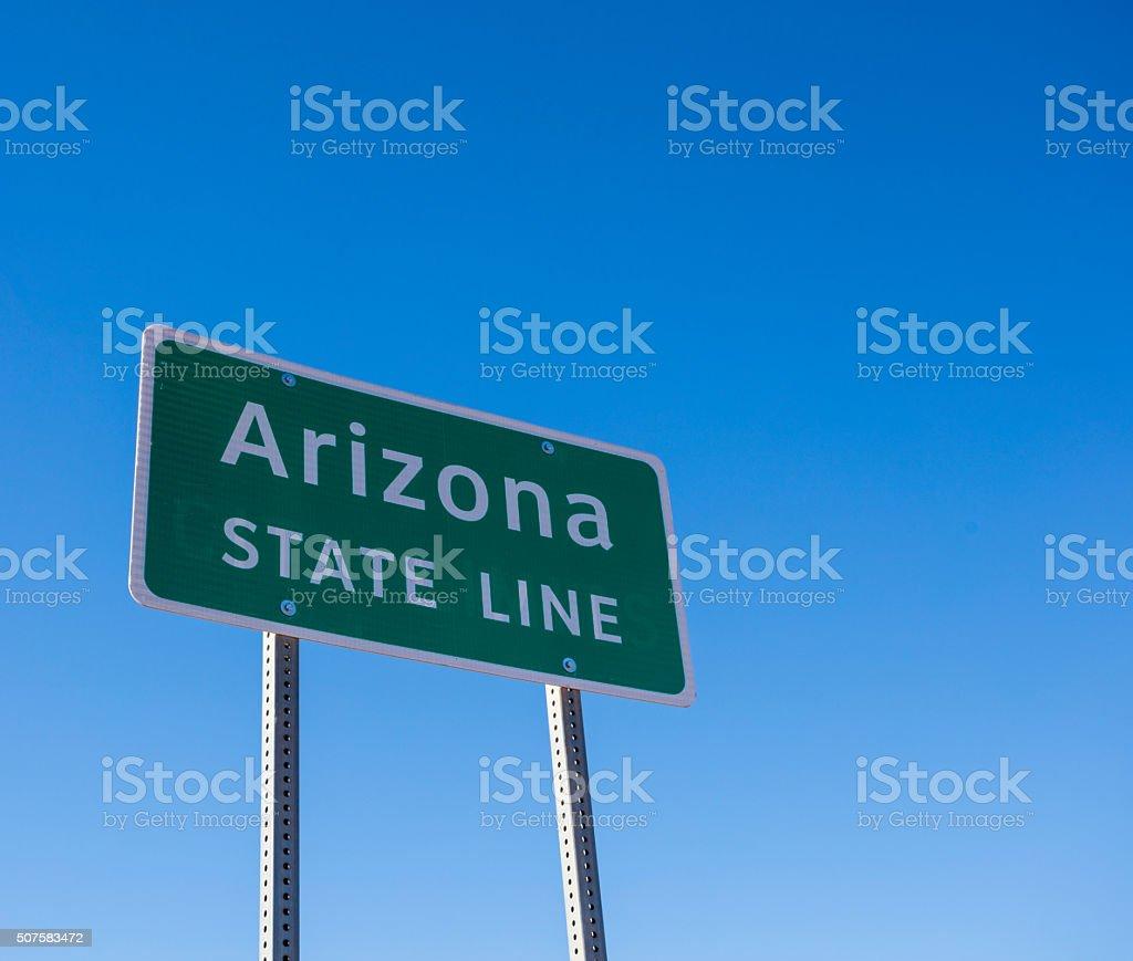 Arizona State Line stock photo