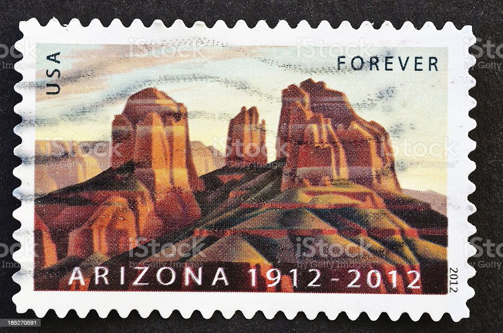 Arizona Statehood Centennial Stamp stock photo