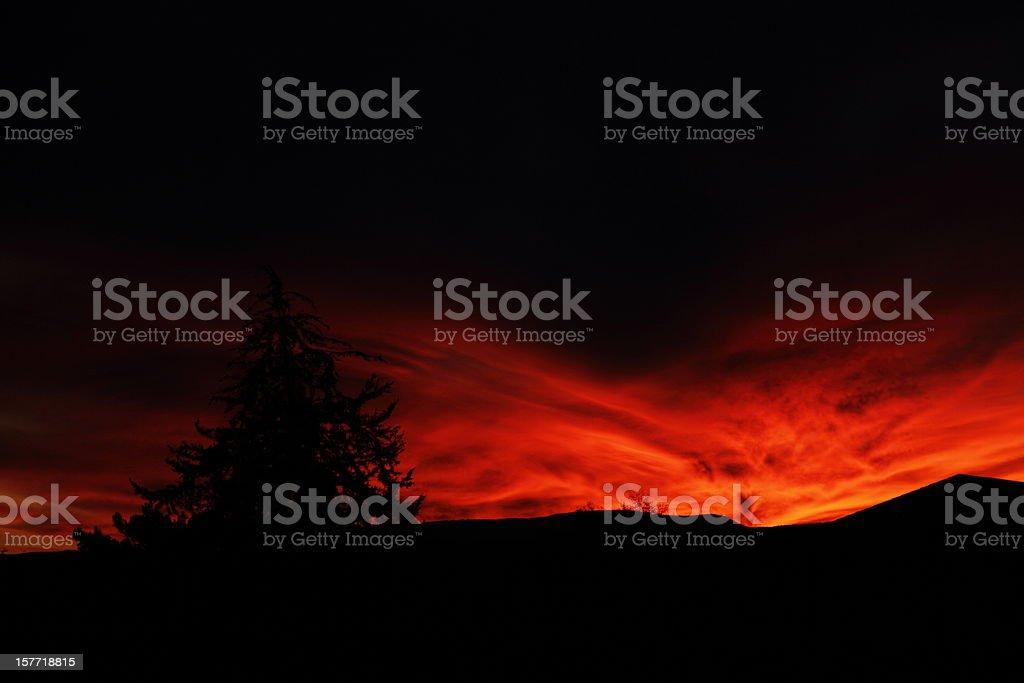 Arizona Sunset Clouds royalty-free stock photo