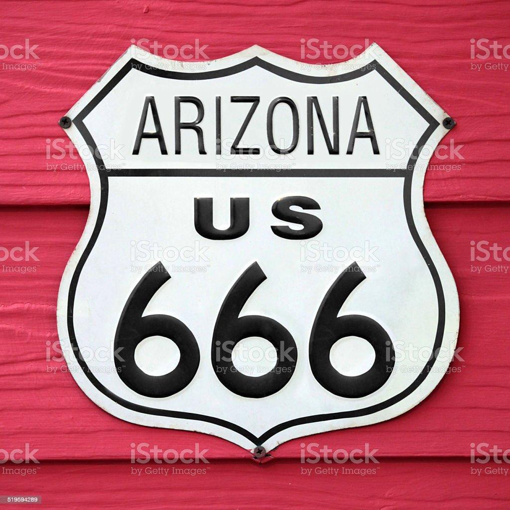 Arizona US 666 stock photo