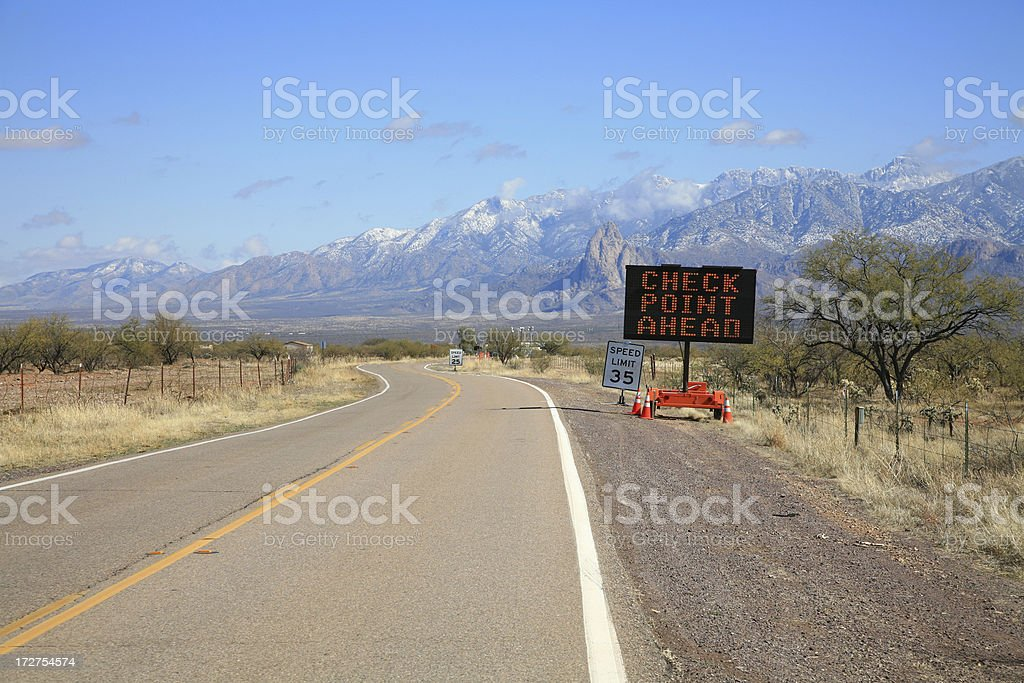 Arizona/Mexico Border Patrol Checkpoint royalty-free stock photo