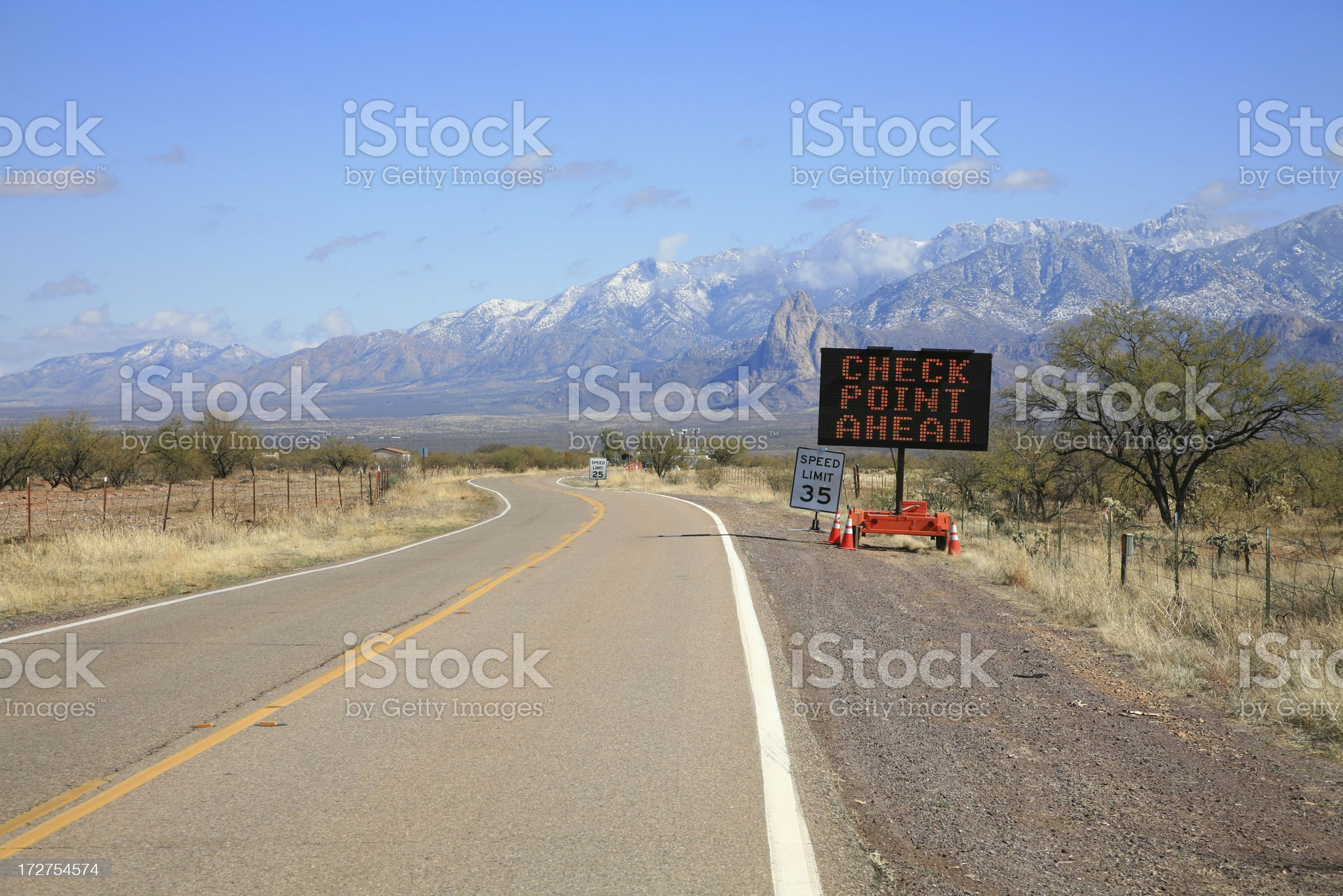 Arizona/Mexico Border Patrol Checkpoint royalty-free stock photo