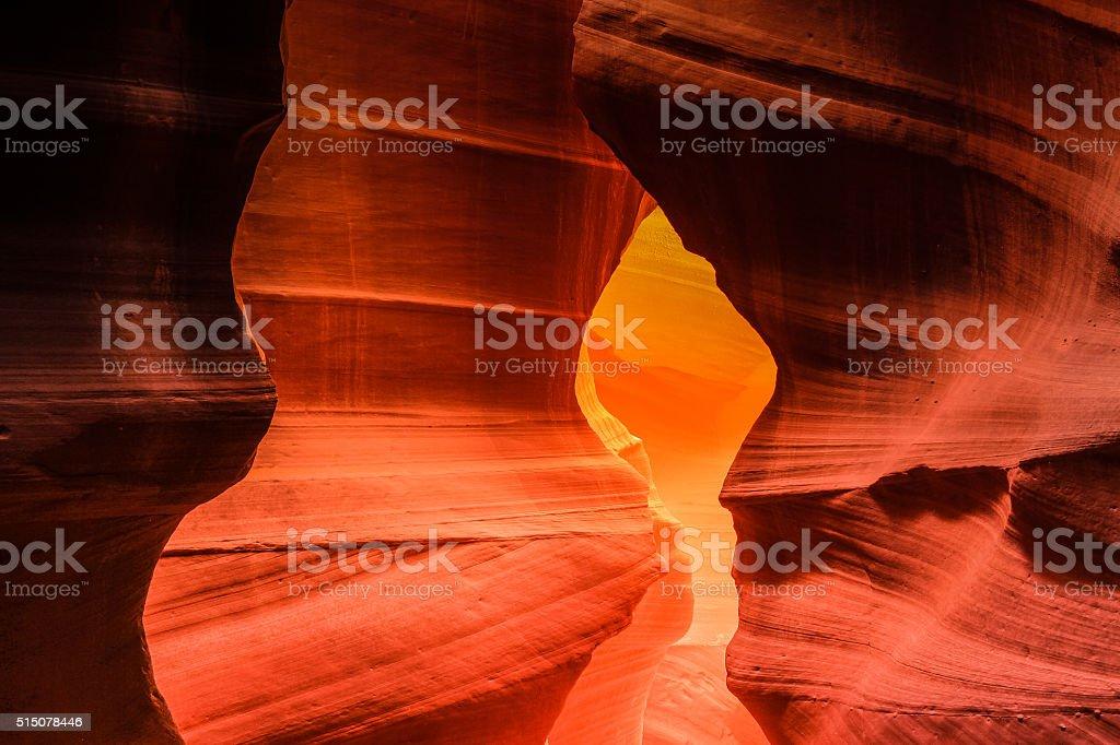 Arizona's gem Antelope Canyon stock photo