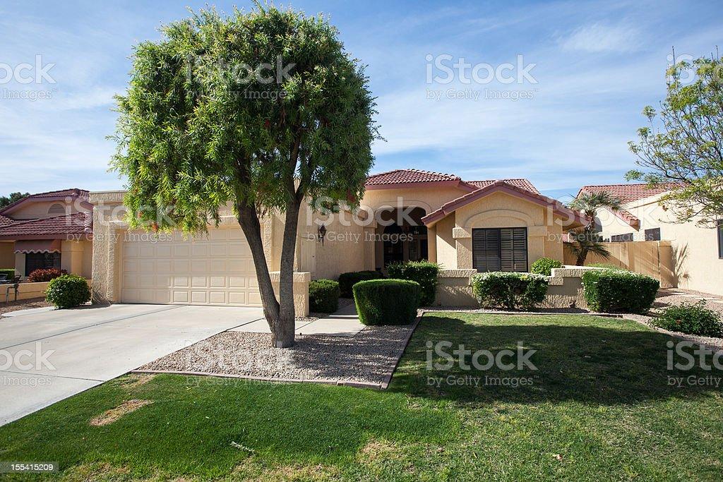 Arizona-style house design common to the region royalty-free stock photo