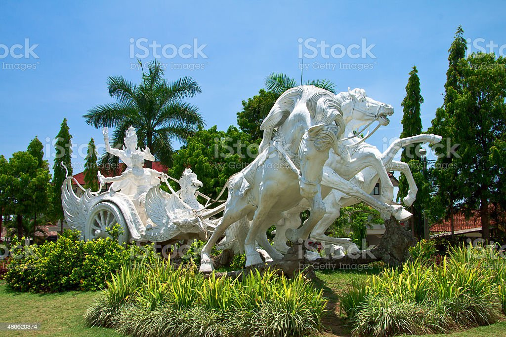 Arjuna riding Chariot stock photo