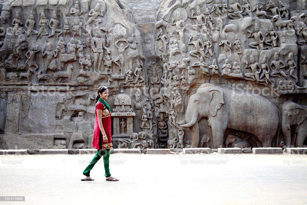 Arjuna's Penance - ,Mahabalipuram, Descent of the GangesIndia stock photo