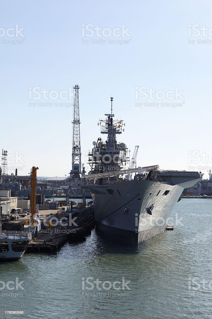 Ark Royal at Plymouth - British Navy stock photo